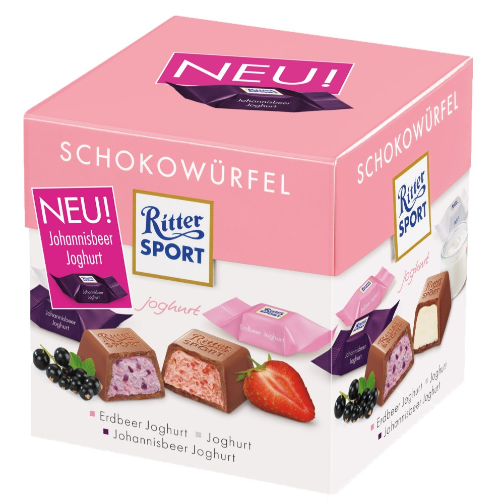 Ritter Sport Assorted Yogurt Chocolate Cube